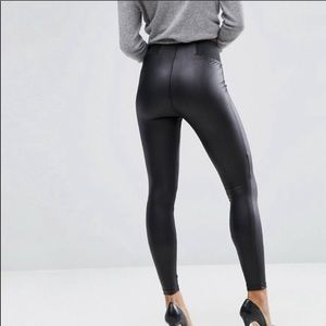 ASOS Faux Leather Stretch Black Leggings
